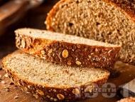 Лесен пълнозърнест хляб с три вида брашно и мая